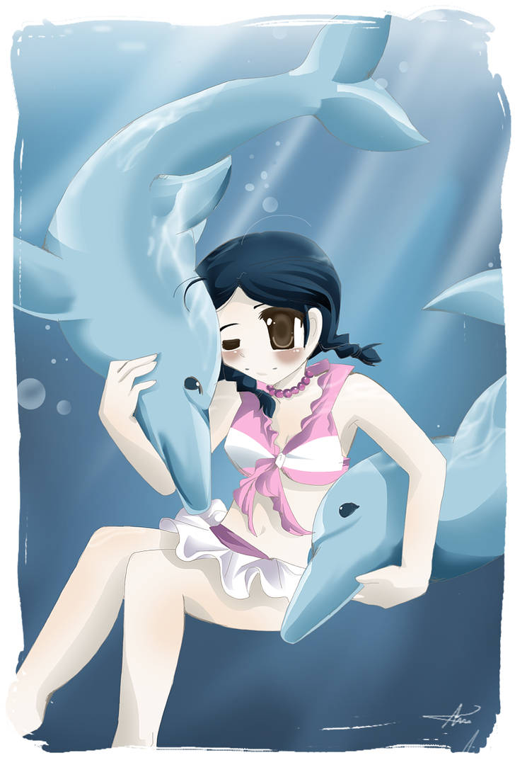 Girl with Dolphins by sakura02