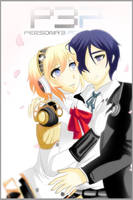 Persona Aigis and Minato by sakura02