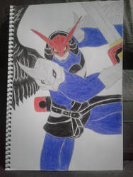 Digimon - Ravemon by Rbitencourte