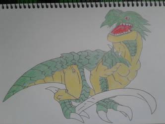 Desenho - Dinorexmon (Digimon) by Rbitencourte