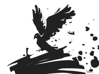 Crow quills by kyubikitsy