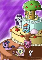 Pony cake collab by Kiyoshiii