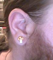 Mushroom Earring by WurdBendur