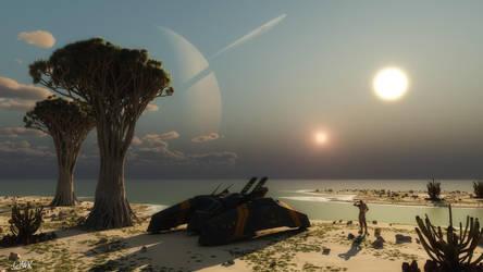 Planet F71 by wolfen11