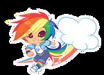 MLP Gijinka: Rainbow Dash by zimra-art