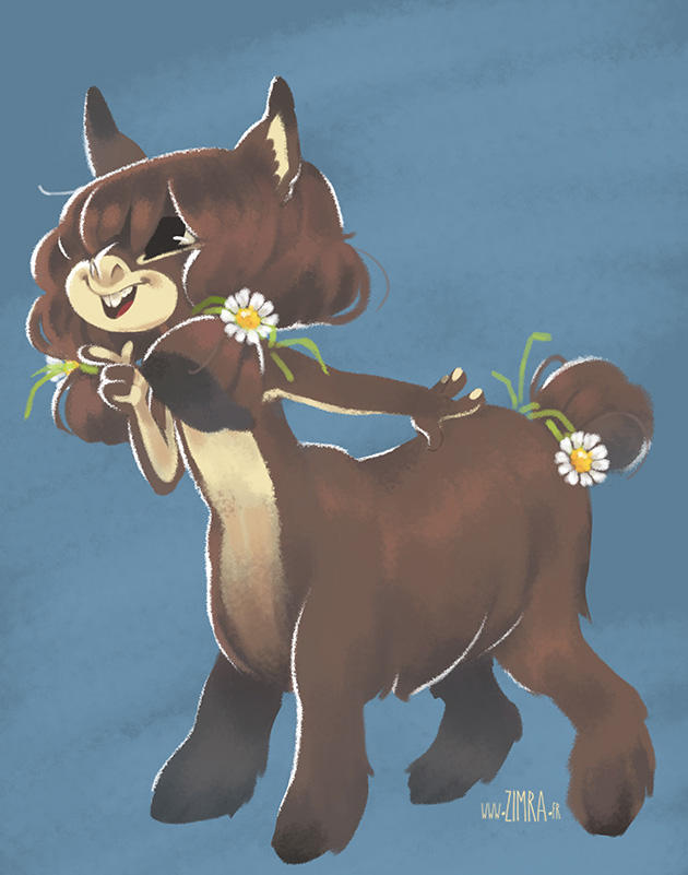 Daisy the Donkeytaur by zimra-art