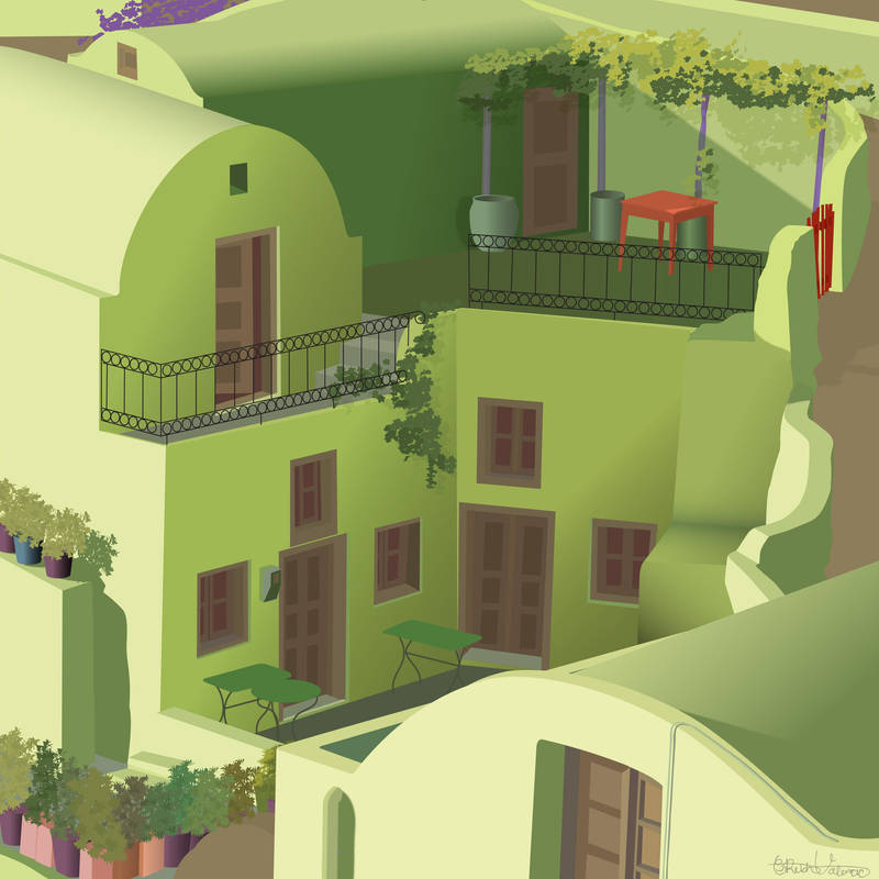 Greece Buildings by Flyinfrogg