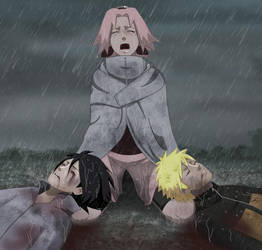 The bloody ending of Naruto by Milady666