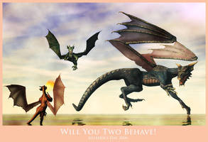 Will You Two Behave by miladyrai