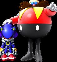 Doctor Robotnik and Metal Sonic by itsHelias94