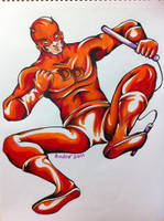 Daredevil copic drawing by AndrePaploo
