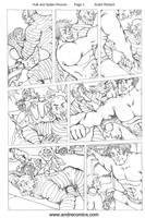 Hulk and Spider-Woman sequential page 3 by AndrePaploo