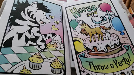 Horse and Cat Throw a Party minicomic for DCAF by AndrePaploo