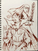 Doctor Strange and Magik by AndrePaploo