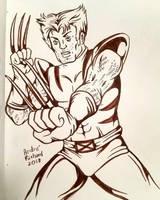 x-men Logan Wolverine inktober by AndrePaploo