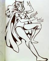 inktober Scarlet Witch by AndrePaploo