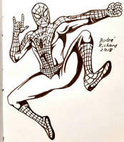 inktober Spider-man Peter Parker  by AndrePaploo