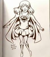 Supergirl Inktober by AndrePaploo