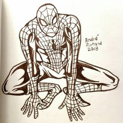 inktober Spider-man Marvel Peter Parker by AndrePaploo