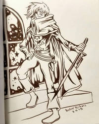 inktober Captain Harlock Galaxy Express 999 by AndrePaploo