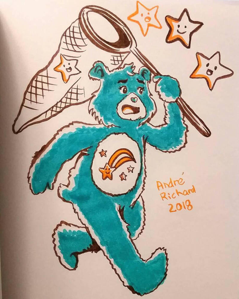 inktober care bears Wish Bear 2018 by AndrePaploo