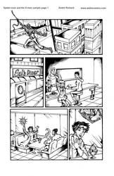 Jubilee Wolverine and Spider-man sample 1 Marvel by AndrePaploo