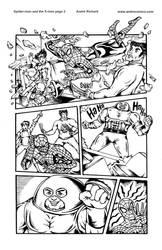 wolverine Spider-man Jubilee page 2 Marvel sample by AndrePaploo