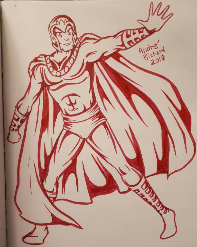 Magneto X-men doodle  by AndrePaploo