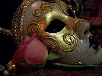 Venetian Mask and Rose by FTBOD