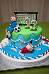 13th Birthday Cake Sport by 1the1