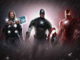 The Avengers by commando-kev