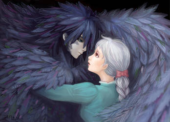 Howl and Sophie by SaoriAiko