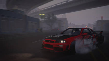 Nissan Skyline GT-R (BNR34) Drift Edition by Brachydios1709