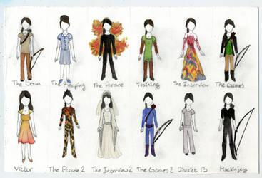 katniss wardrobe by evanesce24