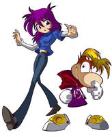 Luckster and Rayman by bleedman