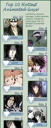 Top 10 Anime Hotties by NoAngelHonestly