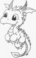 dragon lineart a by Boltonartist