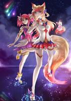 Star Guardians Lux and Ahri by Twigileia