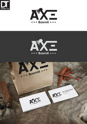 Logo Axe Sawmill by artdigitalazax