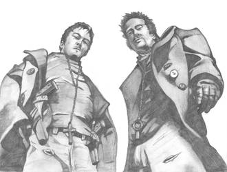 Boondock Saints Drawing by Mavvy