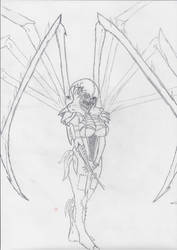 Mercury the Arachnid Assassin by berrikade