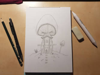 Sketch MushroomHouse by NannocDesign
