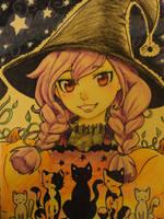 Crayon witch by Reenigrl