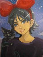 kiki in paint by Reenigrl