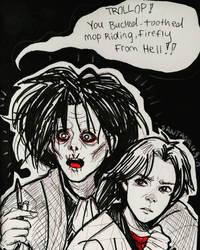 Inktober day 4: Zombie by Reenigrl