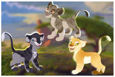 Lion cubs adoptables -Closed- by LysAdopts