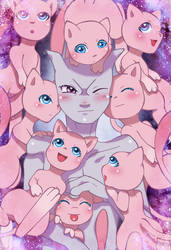 Pile of Mews by Vaporeon249