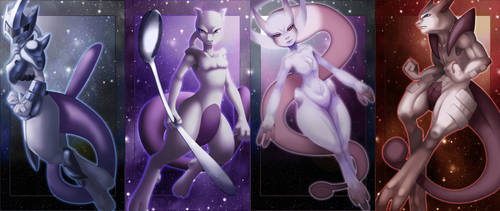 Coming Attraction - Mewtwo X 4 by Vaporeon249