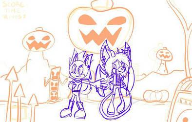 Pumpkin Hill Sketch by S-A-V-A-N-A