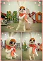 Buru Bunny Needle Felt by nekofoot